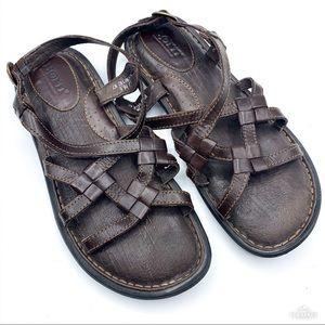 Born | Mica Dark Brown Strappy Sandal NIB